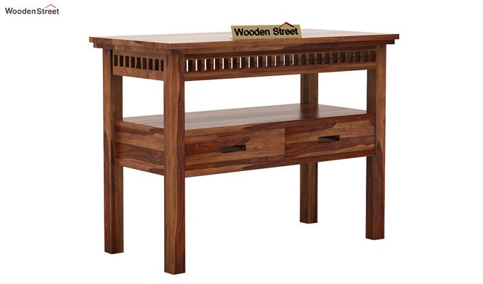 Adolph Console Table With Storage (Teak Finish)-4