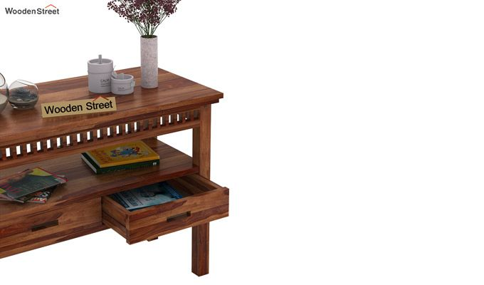 Adolph Console Table With Storage (Teak Finish)-3
