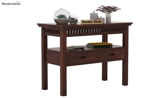 Adolph Console Table With Storage (Walnut Finish)-1