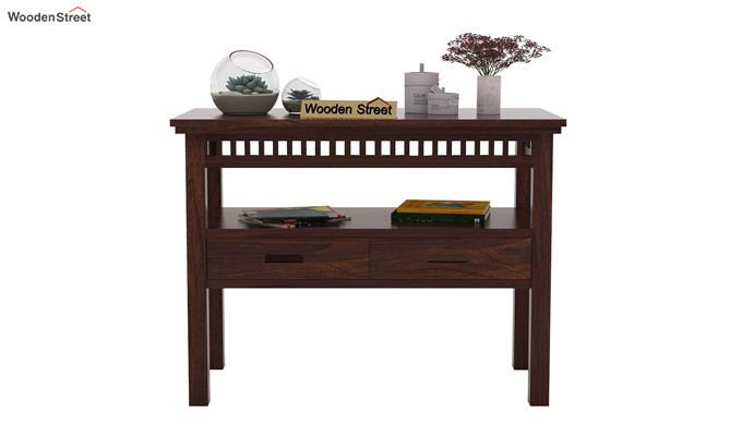Adolph Console Table With Storage (Walnut Finish)-2