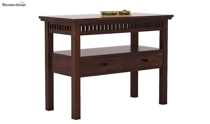 Adolph Console Table With Storage (Walnut Finish)-4