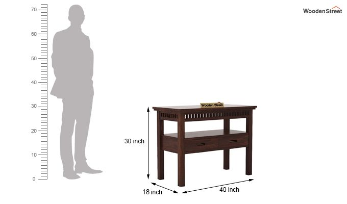 Adolph Console Table With Storage (Walnut Finish)-5