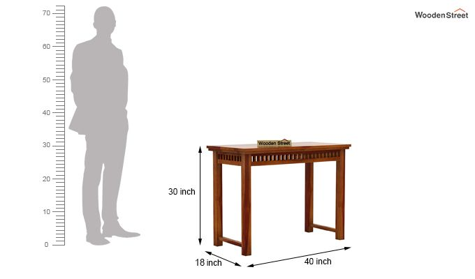 Adolph Console Table (Honey Finish)-5