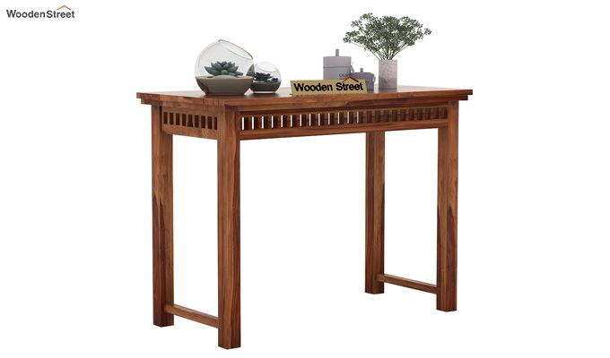 Adolph Console Table (Teak Finish)-1