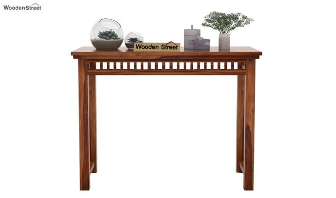 Adolph Console Table (Teak Finish)-2