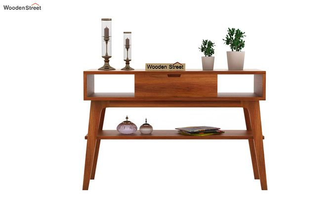 Arkon Console Table (Honey Finish)-2