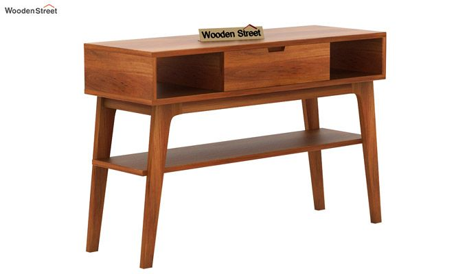Arkon Console Table (Honey Finish)-4