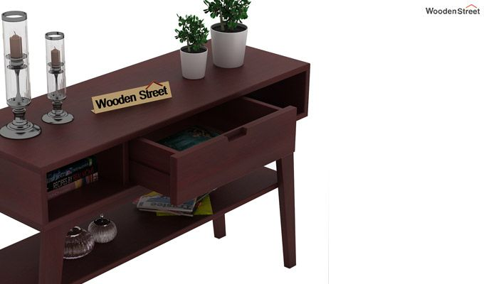 Arkon Console Table (Mahogany Finish)-3