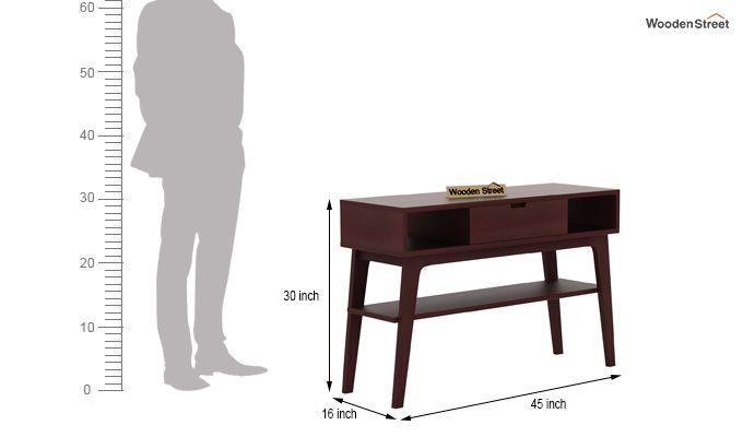 Arkon Console Table (Mahogany Finish)-5