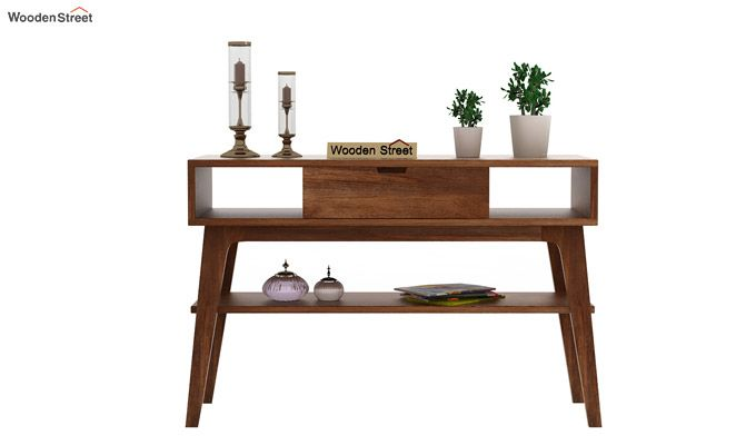 Arkon Console Table (Teak Finish)-2