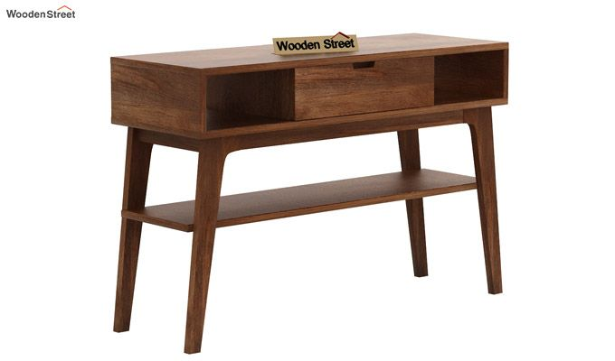 Arkon Console Table (Teak Finish)-4