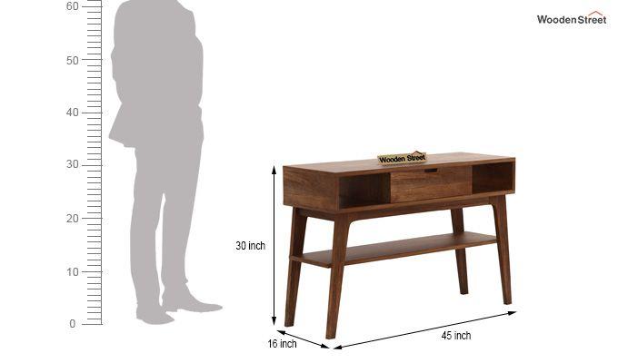 Arkon Console Table (Teak Finish)-5