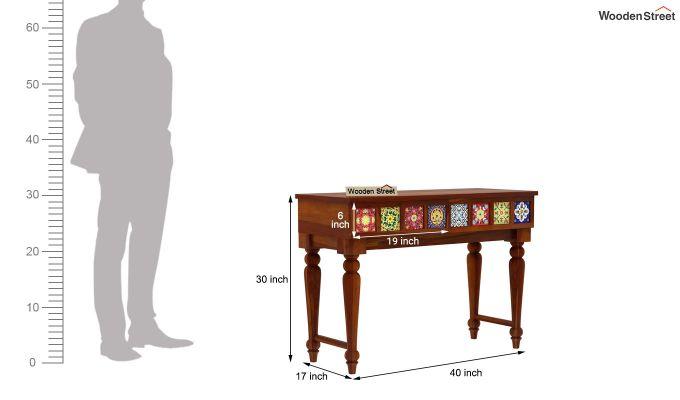 Boho Console Table (Honey Finish)-4