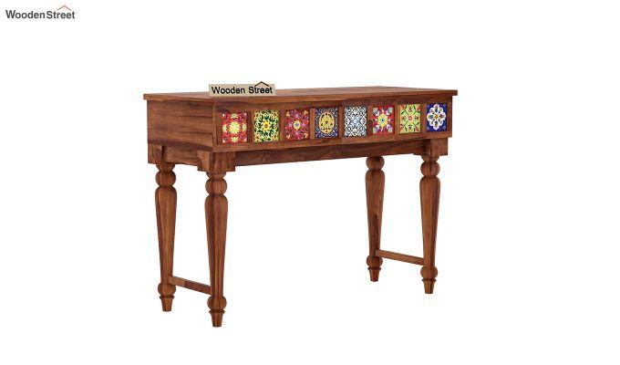 Boho Console Table (Honey Finish)-2