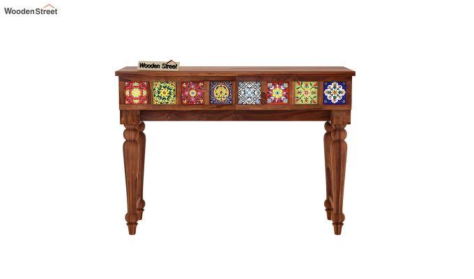 Boho Console Table (Honey Finish)-3