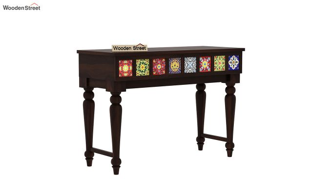 Boho Console Table (Walnut Finish)-2