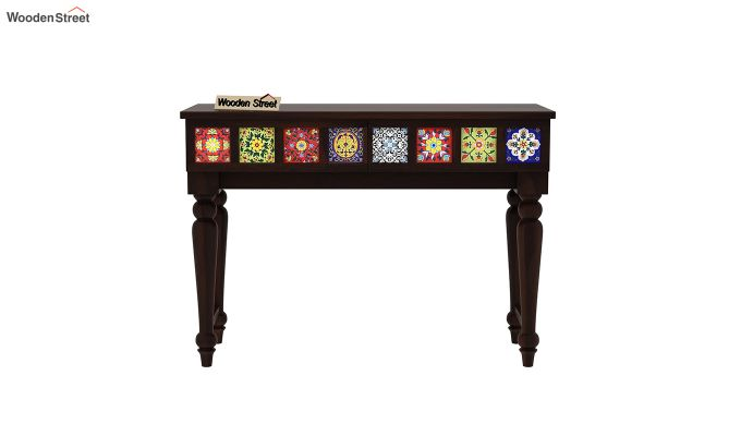 Boho Console Table (Walnut Finish)-3