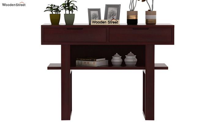 Boris Console Table (Mahogany Finish)-2