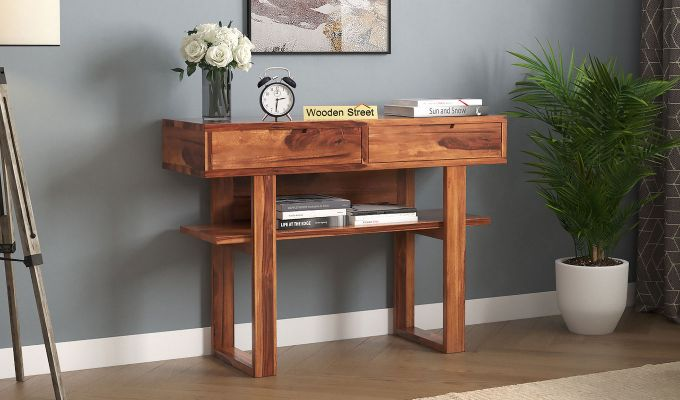 Boris Console Table (Honey Finish)-1