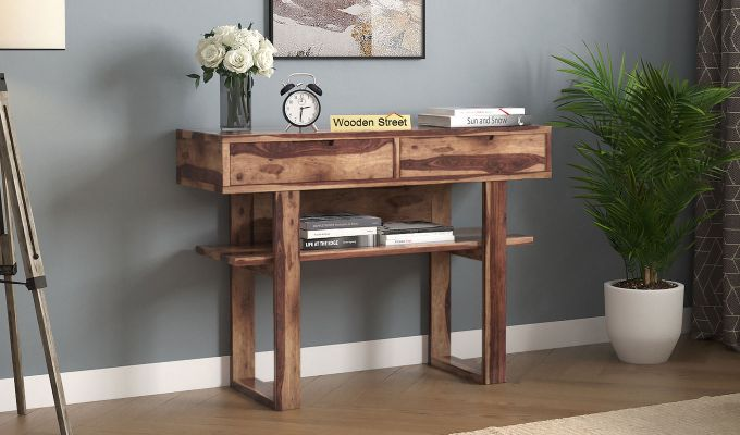 Boris Console Table (Teak Finish)-1