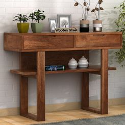 Boris Console Table (Teak Finish)