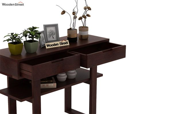 Boris Console Table (Walnut Finish)-5