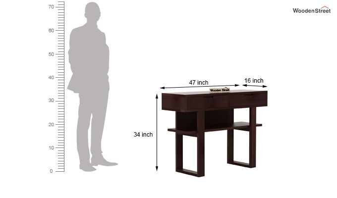 Boris Console Table (Walnut Finish)-6
