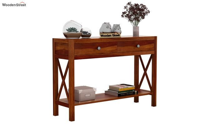 Carnation Console Table (Honey Finish)-1