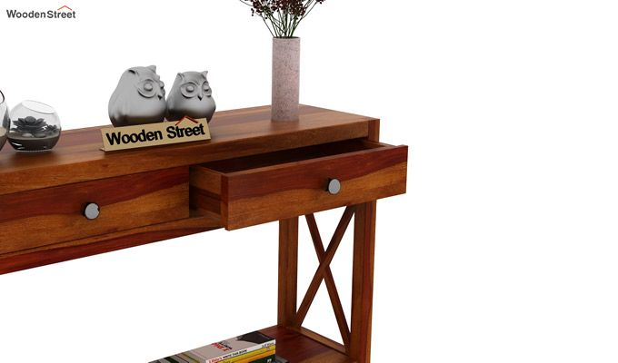 Carnation Console Table (Honey Finish)-4