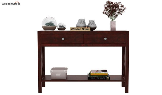 Carnation Console Table (Mahogany Finish)-2