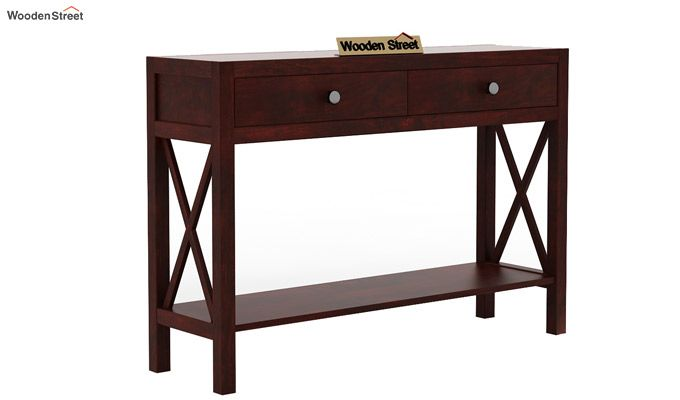 Carnation Console Table (Mahogany Finish)-3