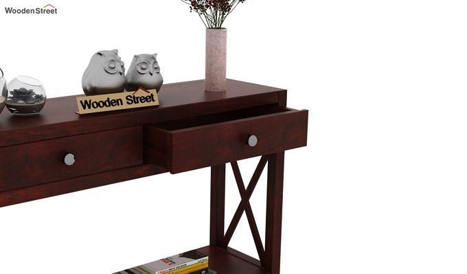 Carnation Console Table (Mahogany Finish)-4