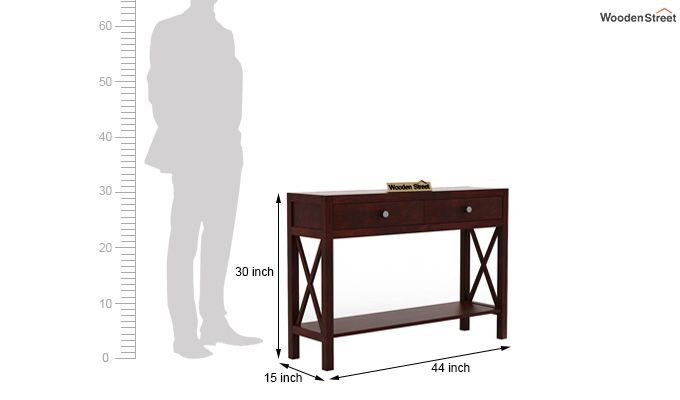 Carnation Console Table (Mahogany Finish)-5