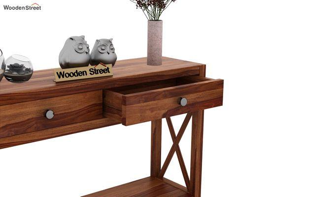 Carnation Console Table (Teak Finish)-5
