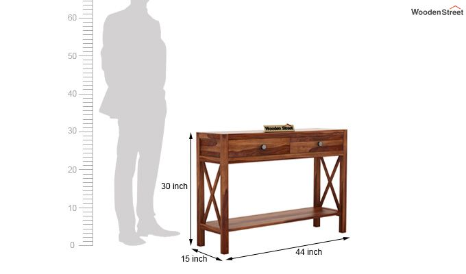 Carnation Console Table (Teak Finish)-6