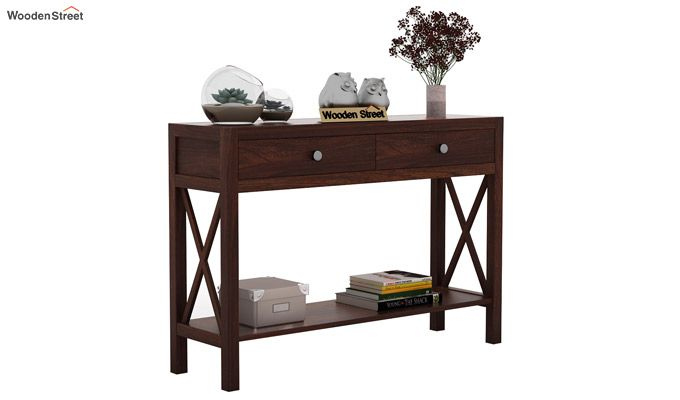 Carnation Console Table (Walnut Finish)-1