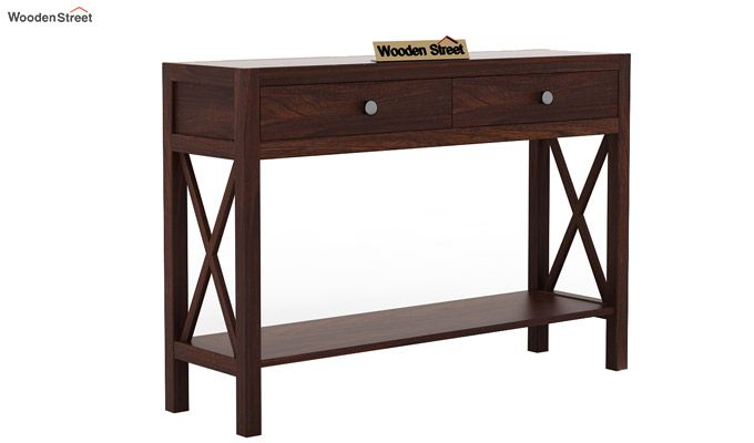 Carnation Console Table (Walnut Finish)-3
