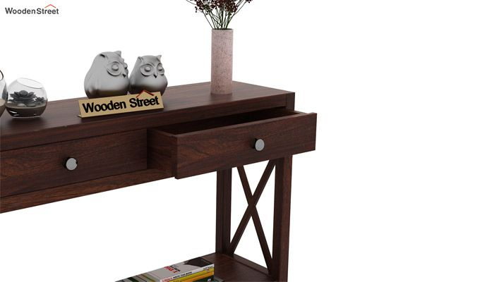 Carnation Console Table (Walnut Finish)-4