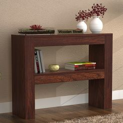 Castor Console Table (Walnut Finish)