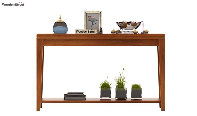 Cody Console Table (Honey Finish)-2