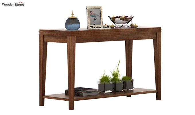 Cody Console Table (Teak Finish)-1