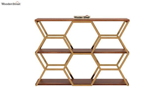 Comb Console Table (Teak Finish)-4