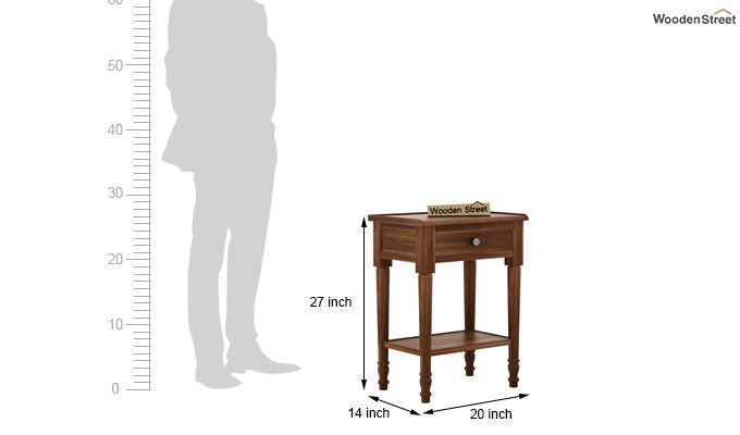 Danya Console Table (Teak Finish)-5