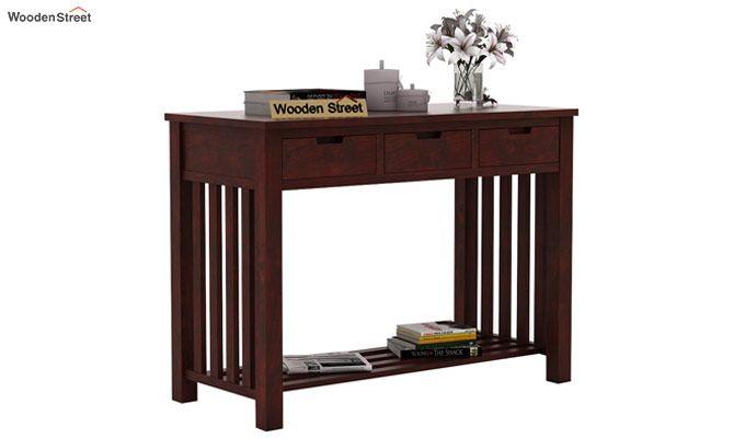 Douglas Console Table With Storage (Mahogany Finish)-2