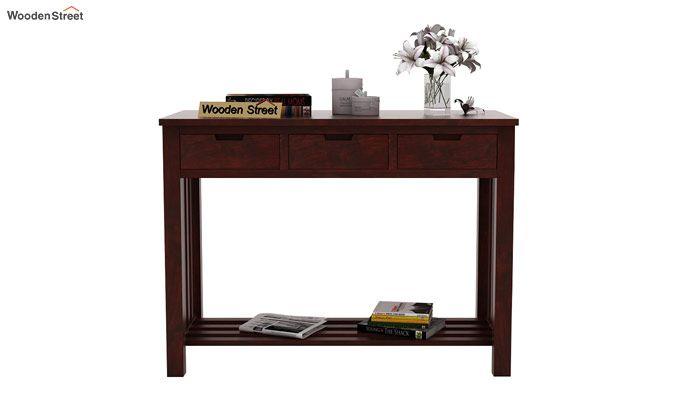Douglas Console Table With Storage (Mahogany Finish)-3