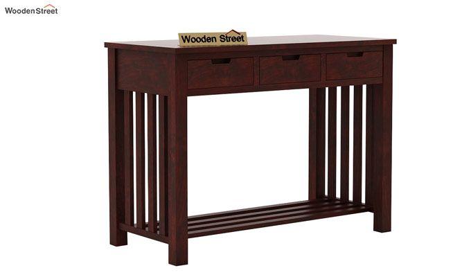 Douglas Console Table With Storage (Mahogany Finish)-5