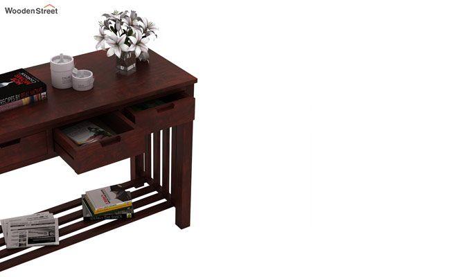 Douglas Console Table With Storage (Mahogany Finish)-4