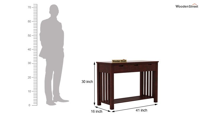 Douglas Console Table With Storage (Mahogany Finish)-6