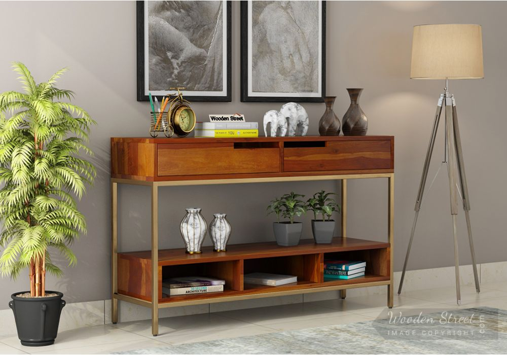 Freesia Console Table Honey Look