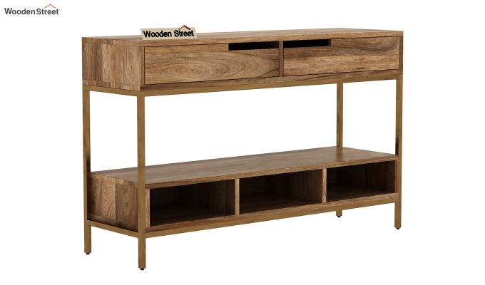Freesia Console Table (Natural Finish)-1